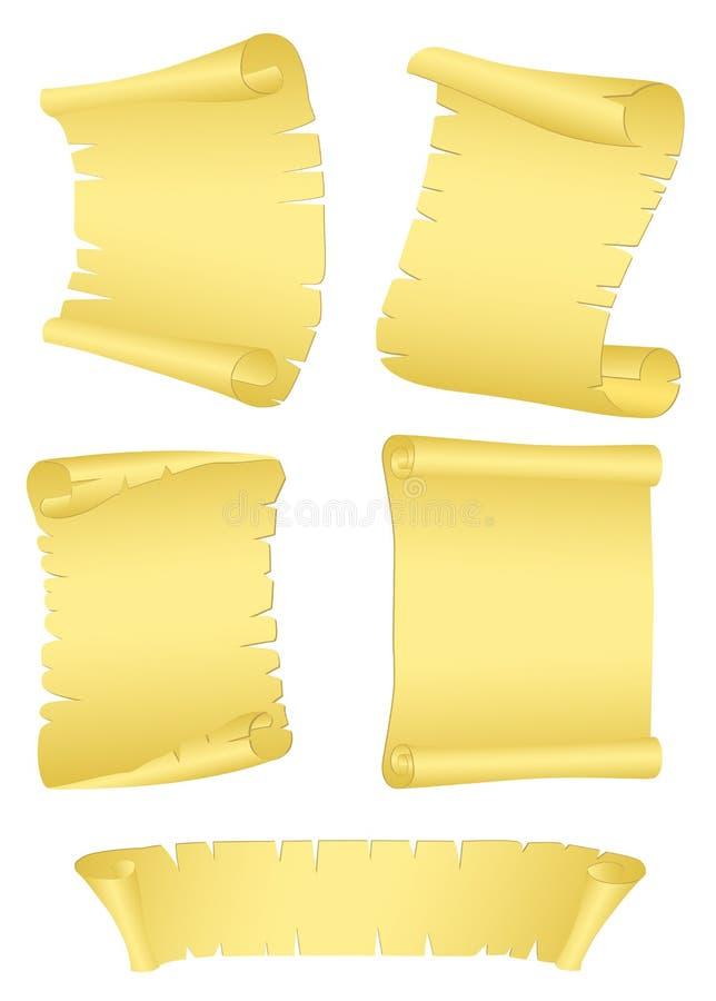 Papel viejo del rodillo stock de ilustración