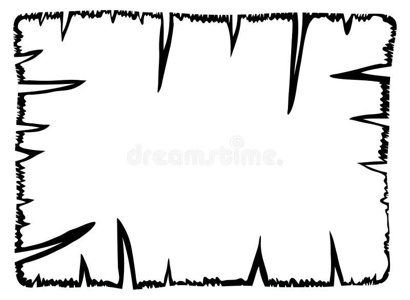 Papel viejo quemado, ico del símbolo del vector de la silueta del esquema del pergamino ilustración del vector