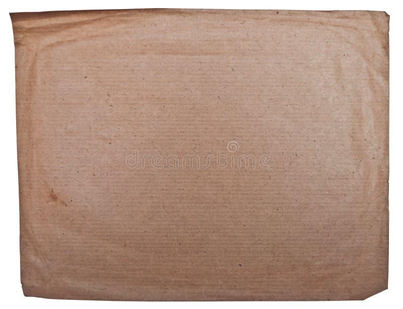 Papel viejo vacío del Grunge aislado en blanco fotos de archivo libres de regalías