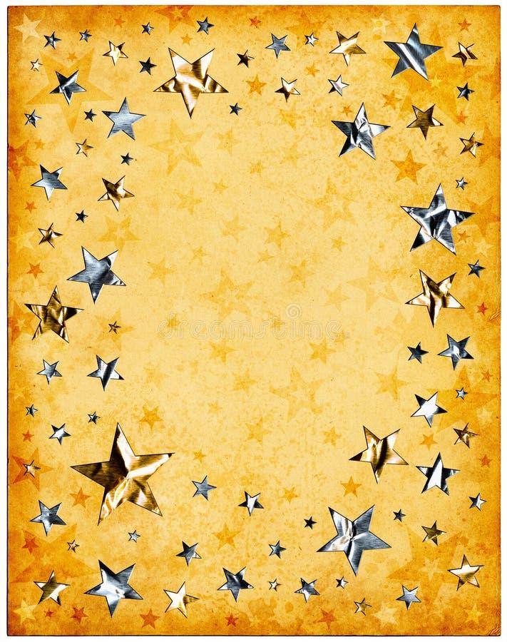 Papel y estrellas viejos libre illustration