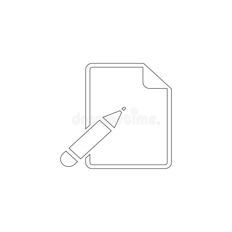 Papel y pluma Icono plano del vector ilustración del vector