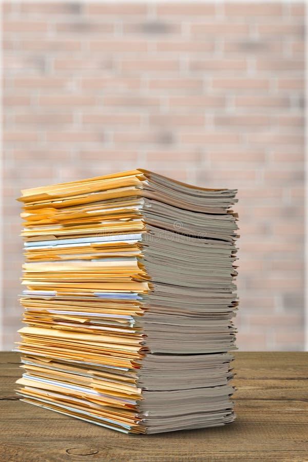 papeleo foto de archivo libre de regalías