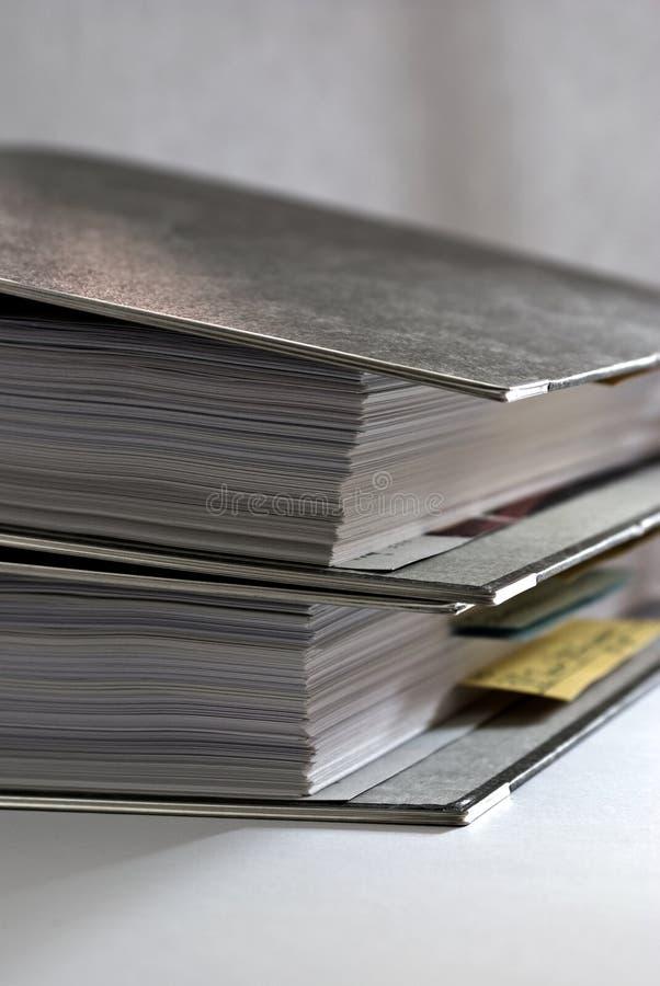 Papeleo - carpetas 2 fotografía de archivo