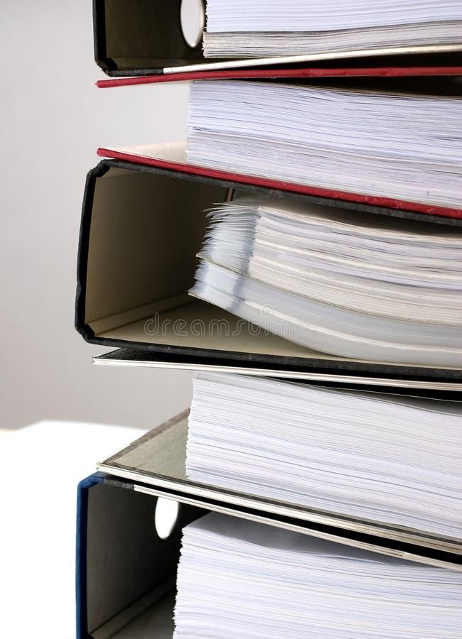 Papeleo - carpetas 5 imagen de archivo libre de regalías