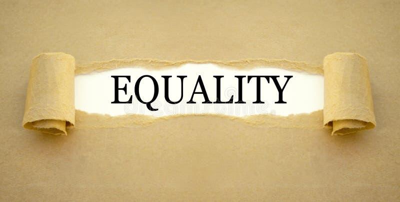 Papeleo con la igualdad de la palabra imágenes de archivo libres de regalías