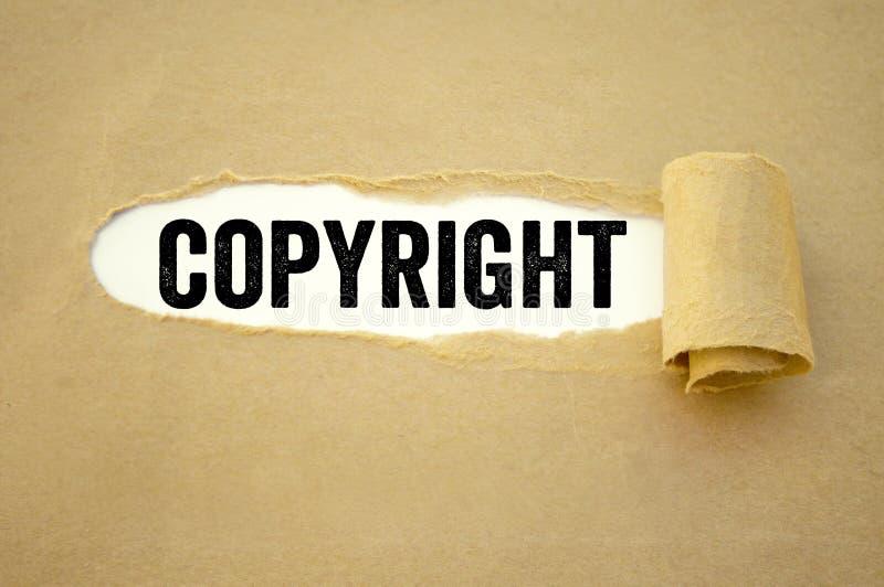 Papeleo con los derechos reservados imagenes de archivo