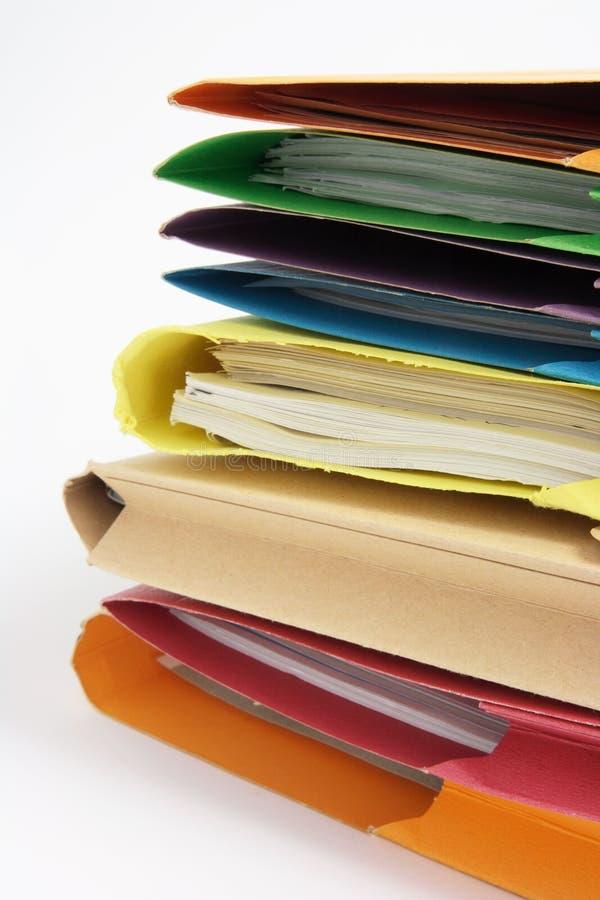 Papeleo en carpetas foto de archivo libre de regalías