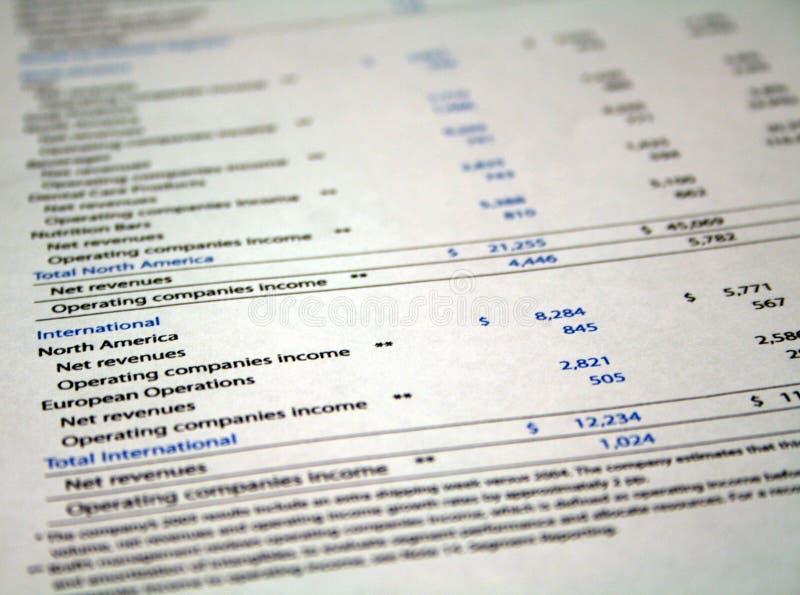 Papeleo financiero fotografía de archivo libre de regalías
