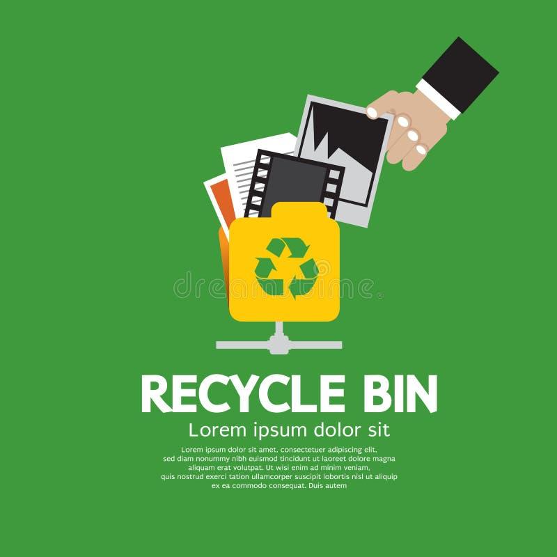 Papelera de reciclaje. ilustración del vector