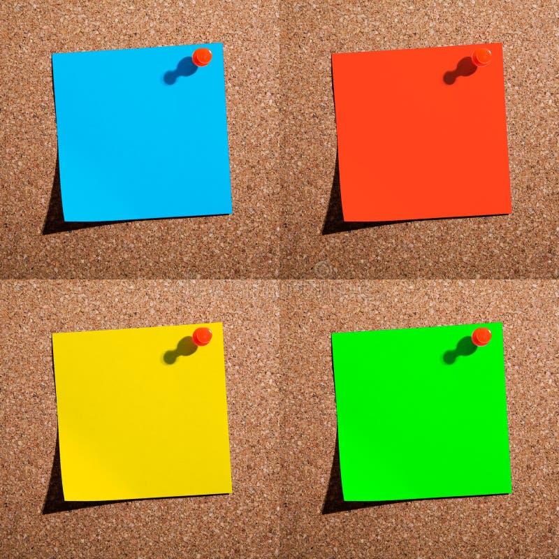 Papeles de nota imágenes de archivo libres de regalías