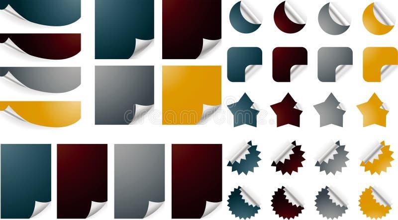 Papeles encrespados stock de ilustración