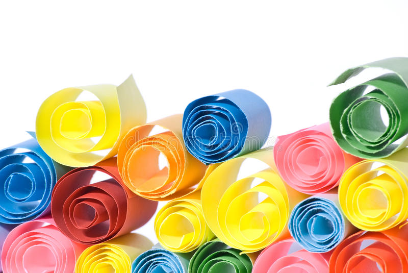 Papeles multicolores. imagen de archivo