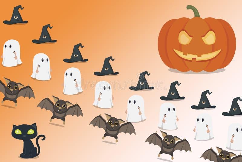 Papeles pintados de Halloween para el día de fiesta foto de archivo libre de regalías