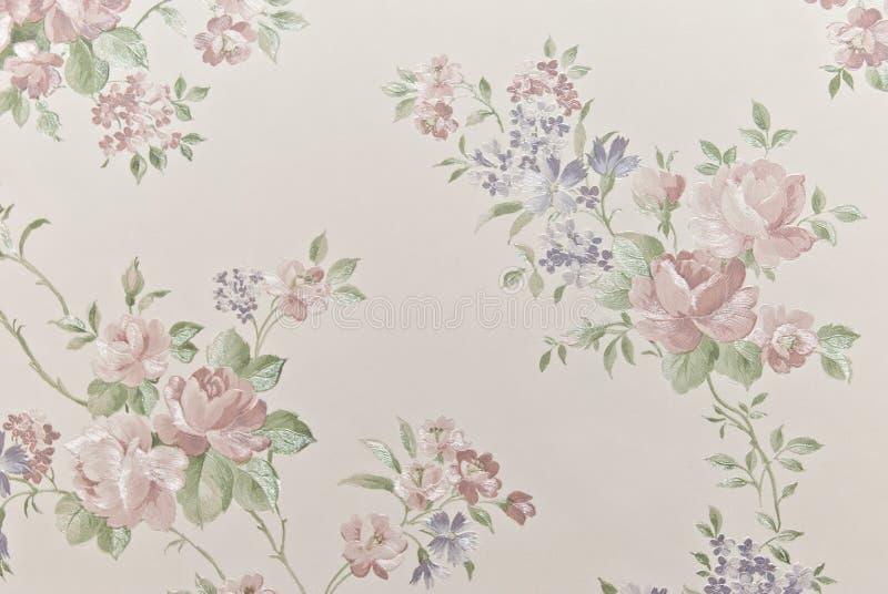 Papeles pintados históricos como fondo de las flores fotografía de archivo