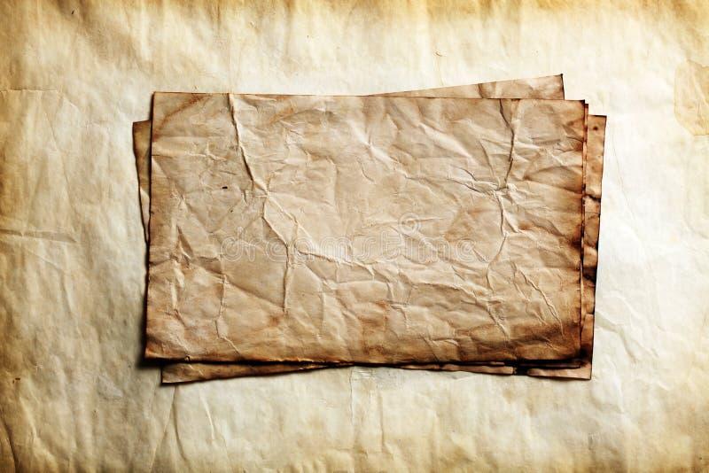 Papeles viejos imagen de archivo libre de regalías