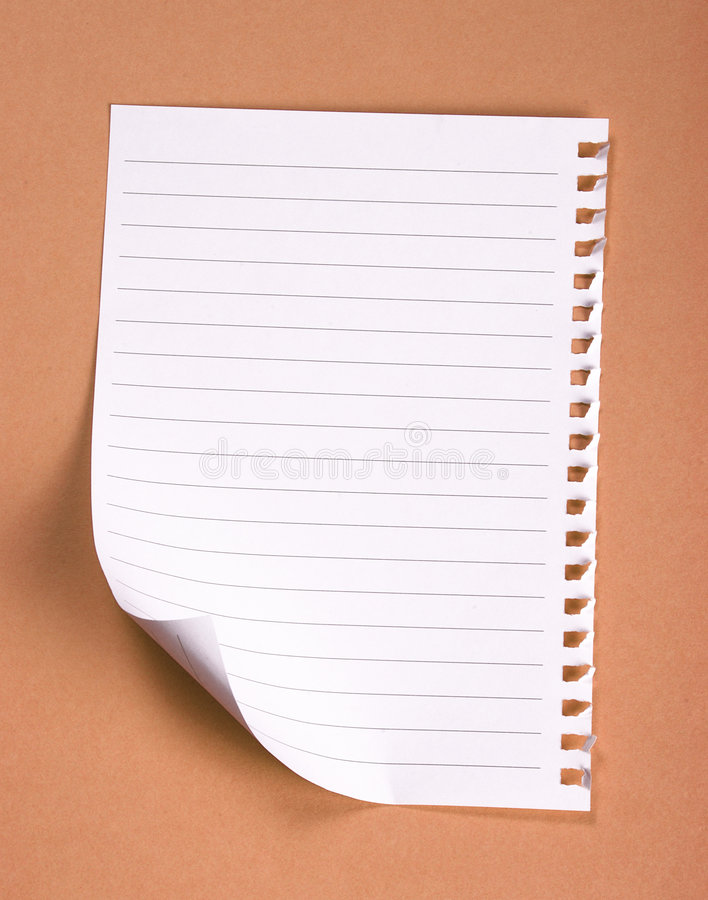 Paper. Lined note paper on textured background