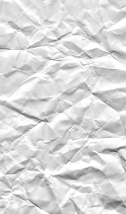 Paper. The surface of white, rough, crushed paper royalty free stock photo