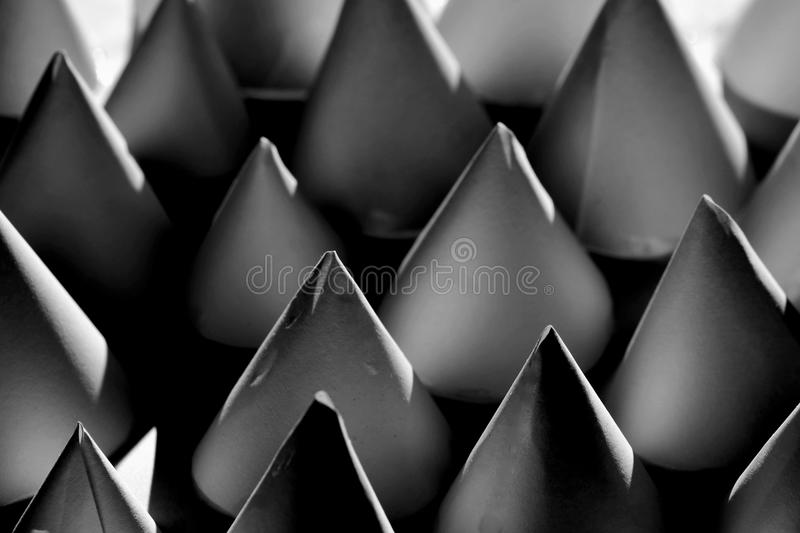 Paper abstract. With a sharpened corn forms royalty free stock photos