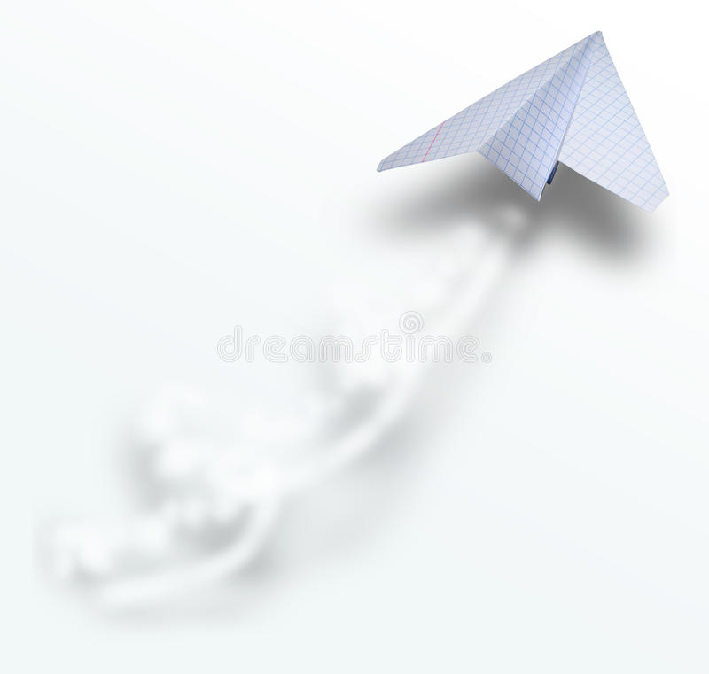 Download Paper airbus with tail stock illustration. Image of flight - 13098440