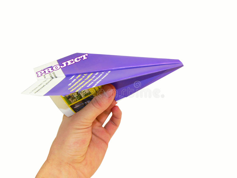 Paper airplane. On the white background stock photography