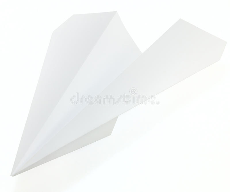 Paper airplane. On white background royalty free stock photos