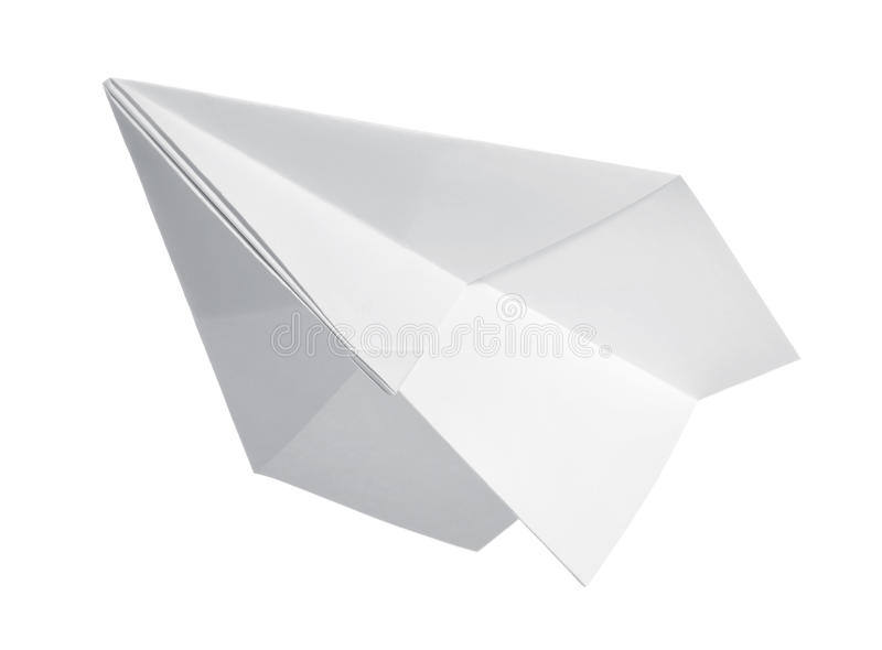 Paper airplane. On white background royalty free stock photo