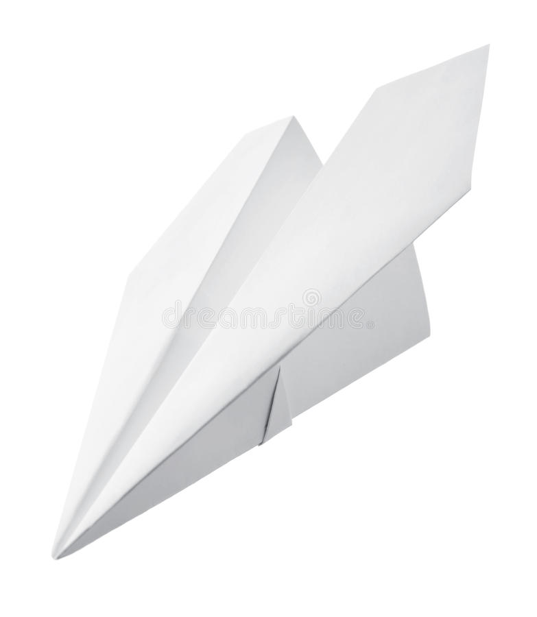 Paper airplane. On white background royalty free stock images