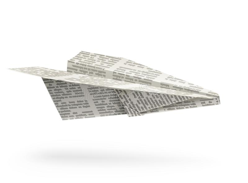 Paper airplane origami stock illustration