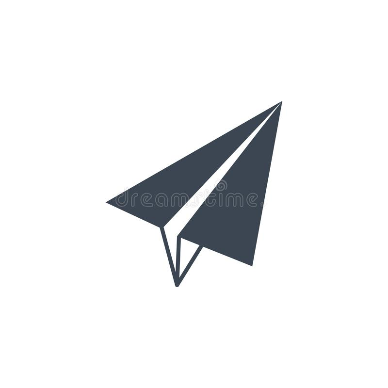 Paper Airplane related vector glyph icon. Isolated on white background. Vector illustration royalty free illustration