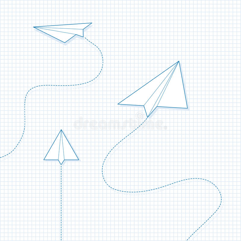 Paper Airplanes stock illustration