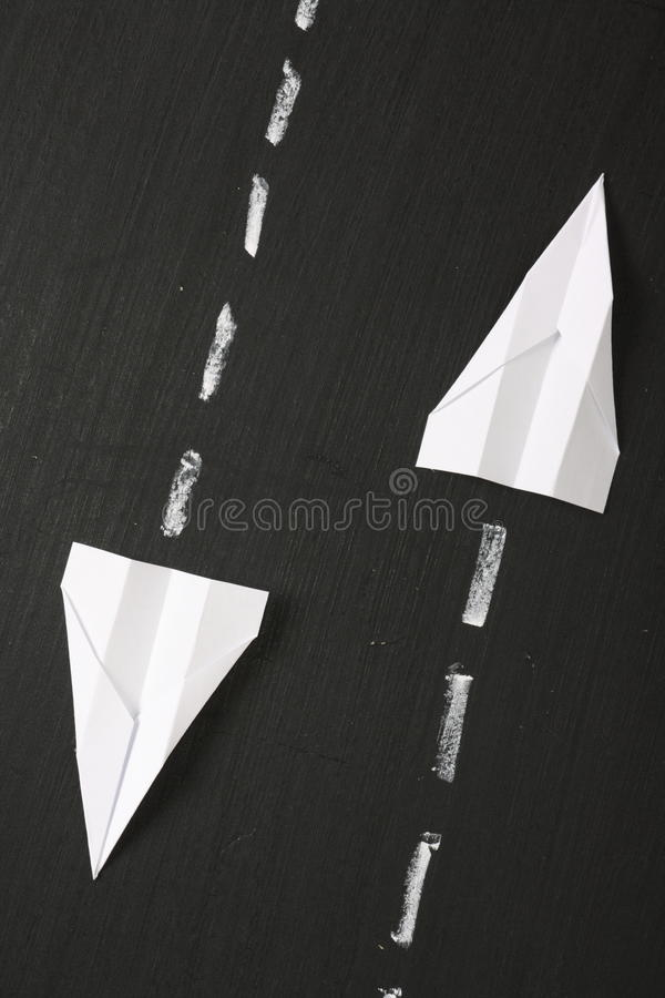 Free Paper Airplanes On A Blackboard Stock Photo - 41412560