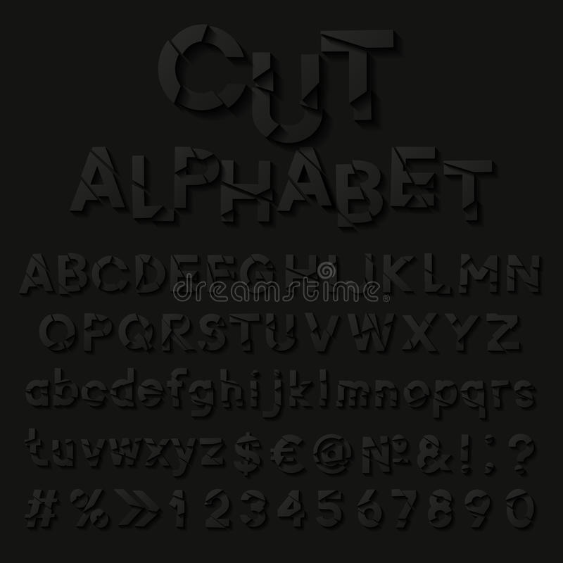 Free Paper Alphabet With Cut Letters Stock Photos - 44722633