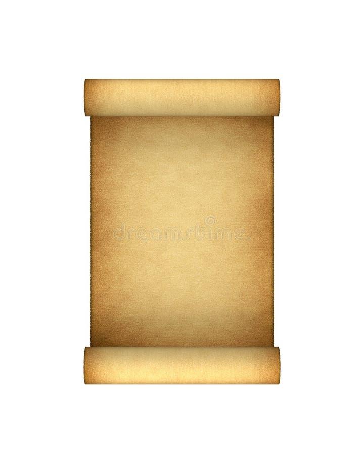 Antique Scroll Paper: Paper Antique Scroll Stock Illustration. Illustration Of