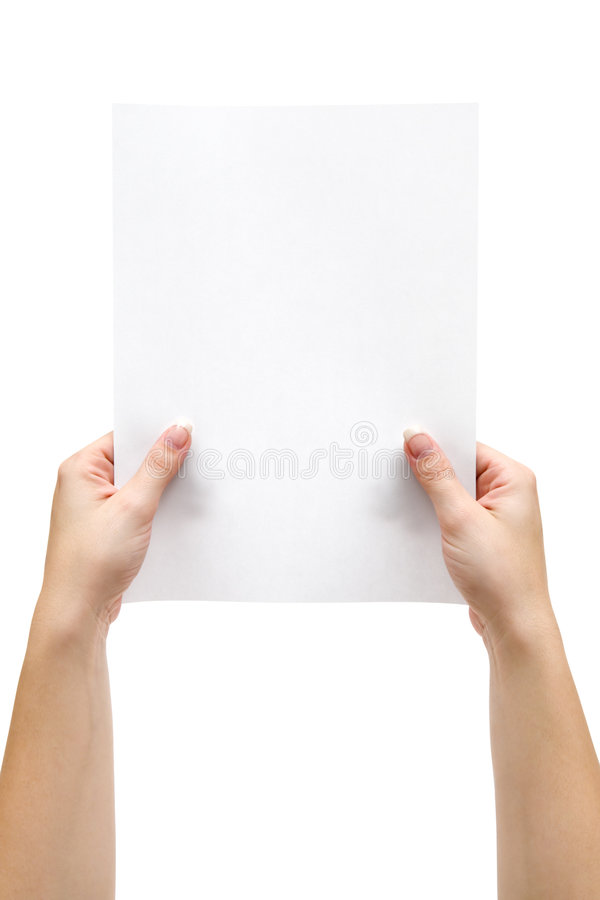 paper ark för holding royaltyfria bilder
