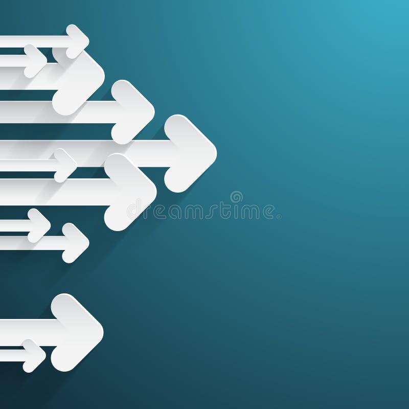 Paper Arrows on Blue Background vector illustration