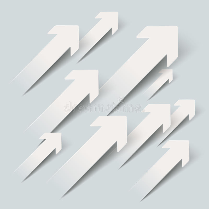 Paper Arrows Growth vector illustration