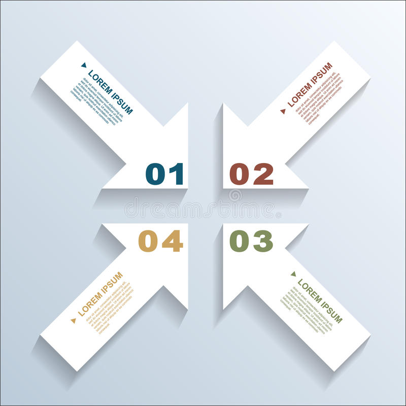 Free Paper Arrows Infographic Royalty Free Stock Photography - 36703647