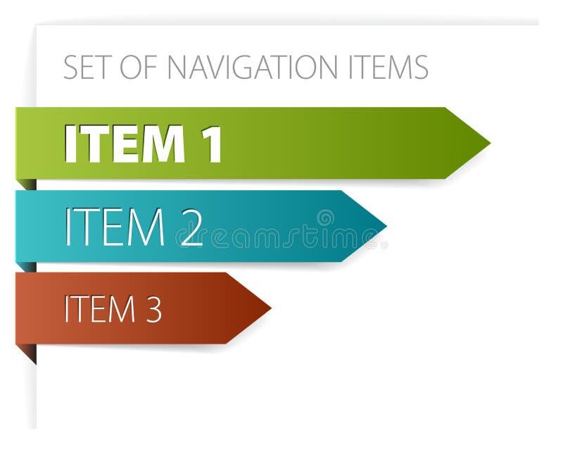 Paper arrows - modern navigation items royalty free illustration