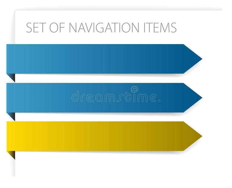Download Paper Arrows - Modern Navigation Items Stock Vector - Illustration of blank, computer: 12891677