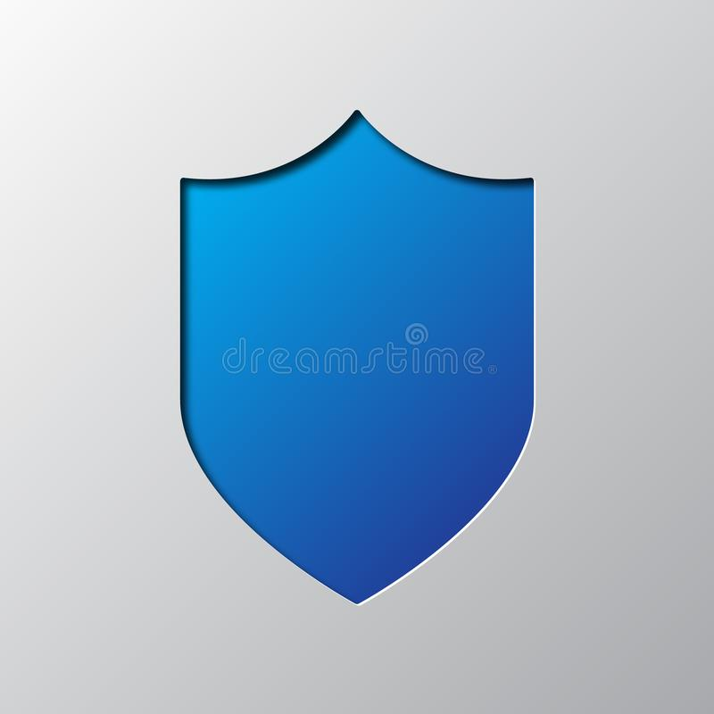 Free Paper Art Of The Blue Shield. Vector Illustration Stock Photography - 113579692