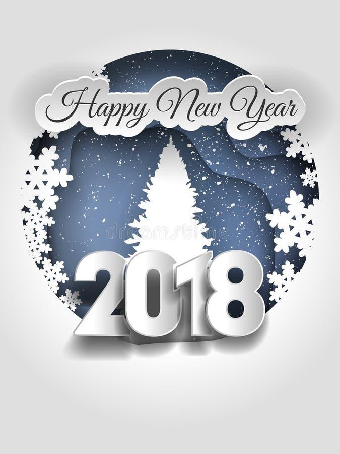 Creative happy new year 2018 design. stock illustration