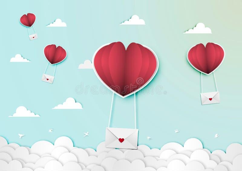 Paper art of valentine day festival vector royalty free illustration