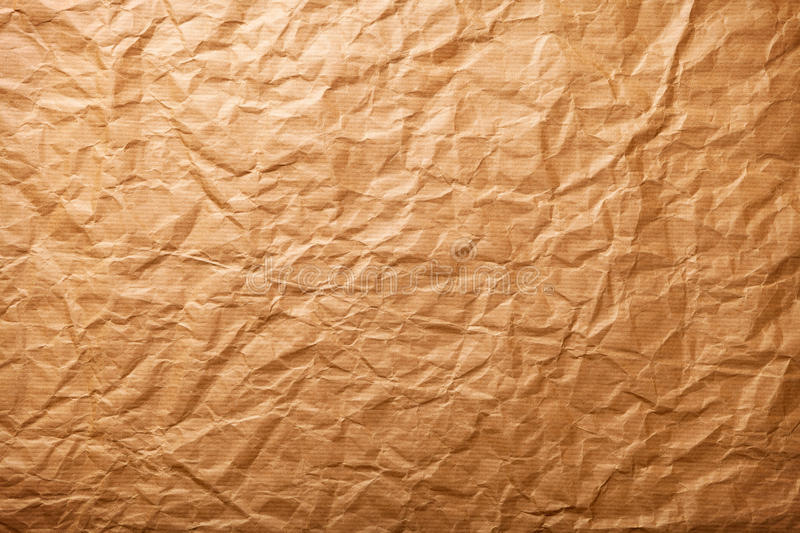 Paper Background. Beige crumpled paper for background, vintage style stock image