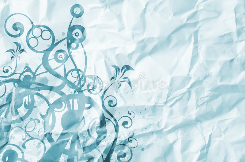 Paper background with art foliage stock illustration