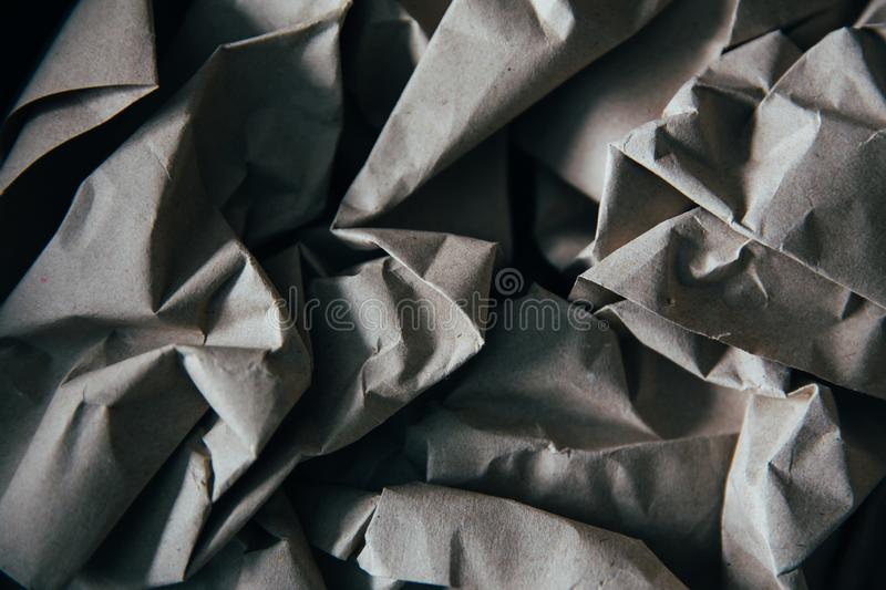 Paper background. Background of natural creasy paper, texture, crumpled, blank, wrinkled, page, old, abstract, creased, grey, sheet, textured, pattern, gray royalty free stock photos