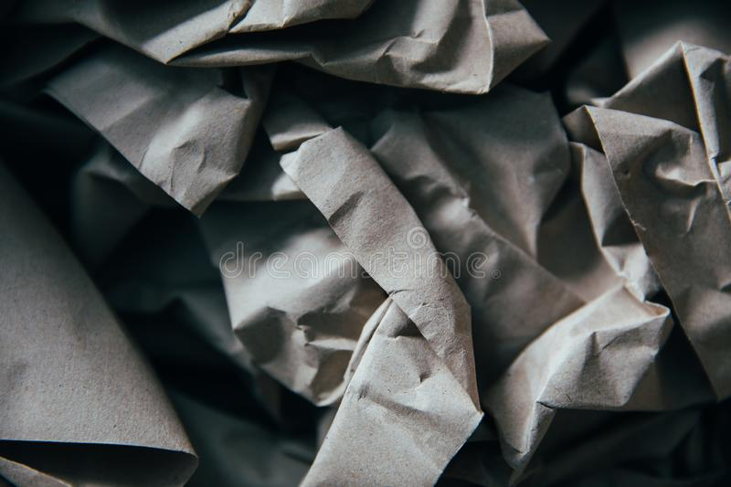 Paper background. Background of natural creasy paper, texture, crumpled, blank, wrinkled, page, old, abstract, creased, grey, sheet, textured, pattern, gray stock images