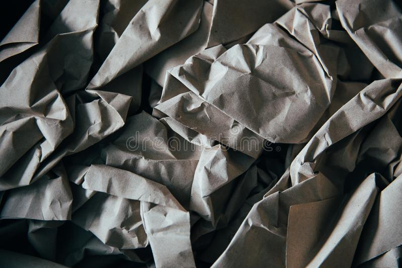 Paper background. Background of natural creasy paper, texture, crumpled, blank, wrinkled, page, old, abstract, creased, grey, sheet, textured, pattern, gray royalty free stock images