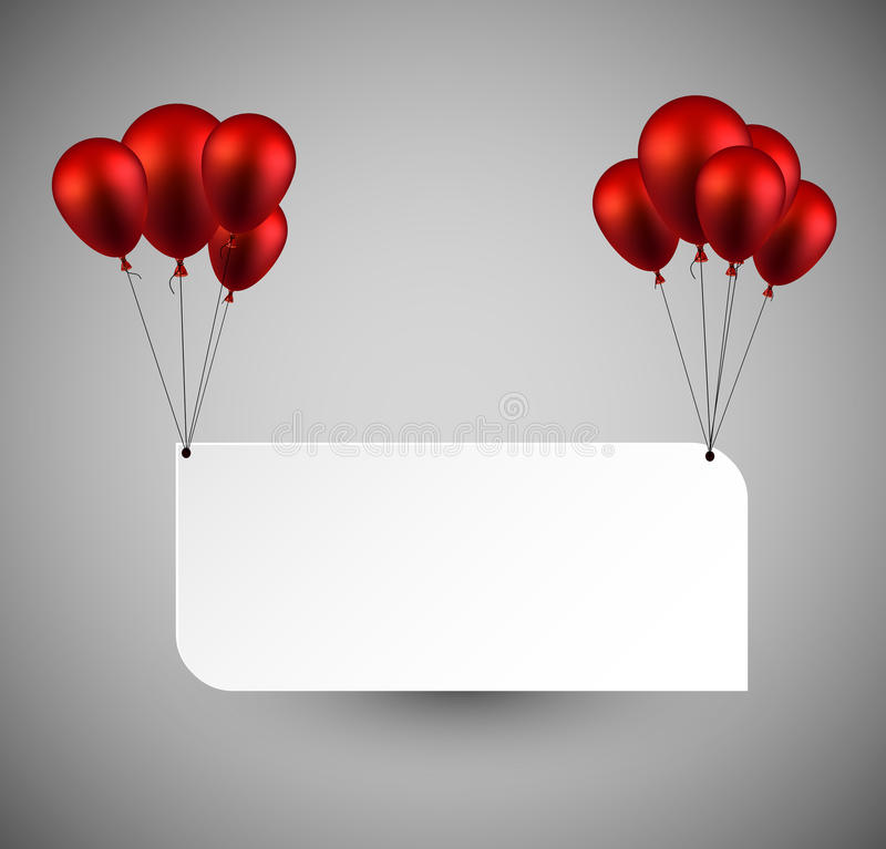 Paper background with balloons vector illustration