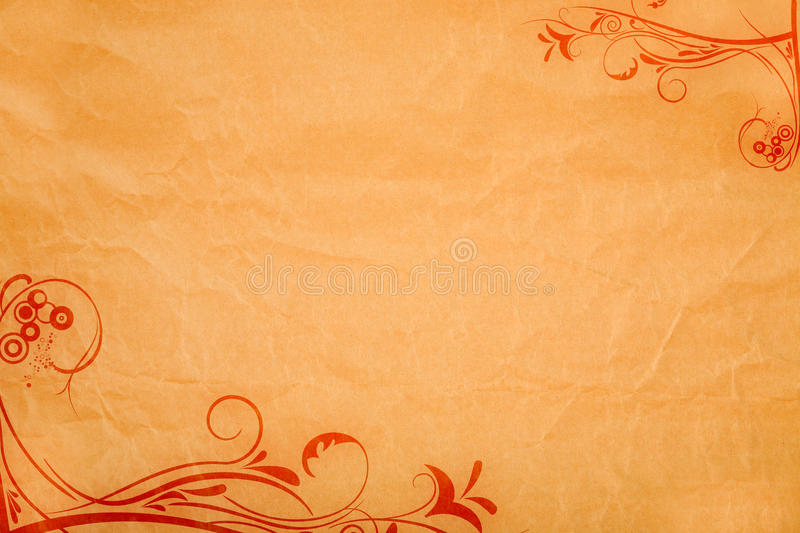 Paper background with ornaments stock image