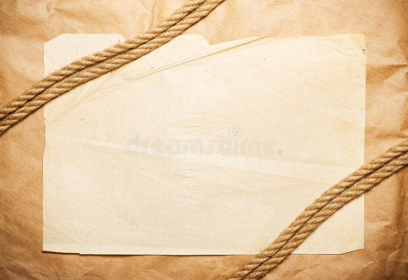 Paper background with rope